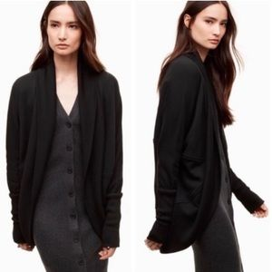 Aritzia Wilfred Diderot open front cocoon sweater Black, Small